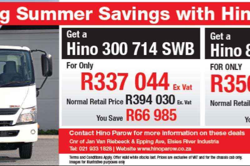 Hino Truck Chassis Cab Hino 714 and 814 promotion . 2019