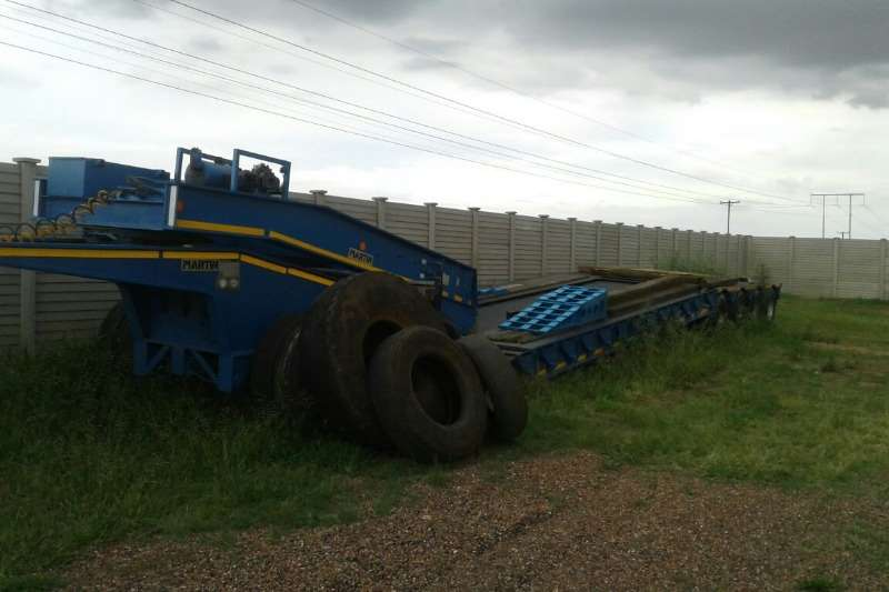 Lowbeds Martin Used 75 Ton 4 Axle Lowbed with Dolly Available 2007