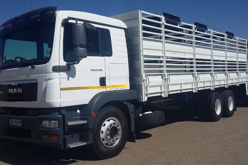 MAN Cattle body TGM 25 280 with Cattle Sheep Comb Truck