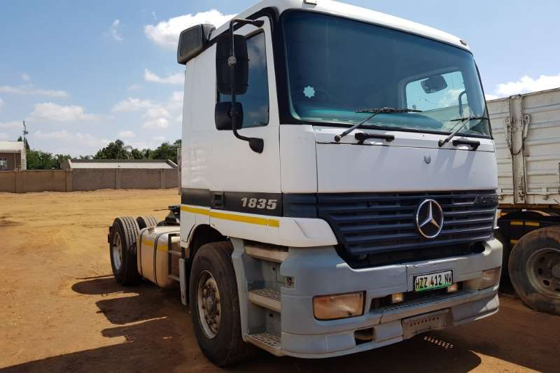 Mercedes Benz Truck-Tractor Single Axle MB 1835 Actros MP1 hydraulics, well kept farm truc 2001