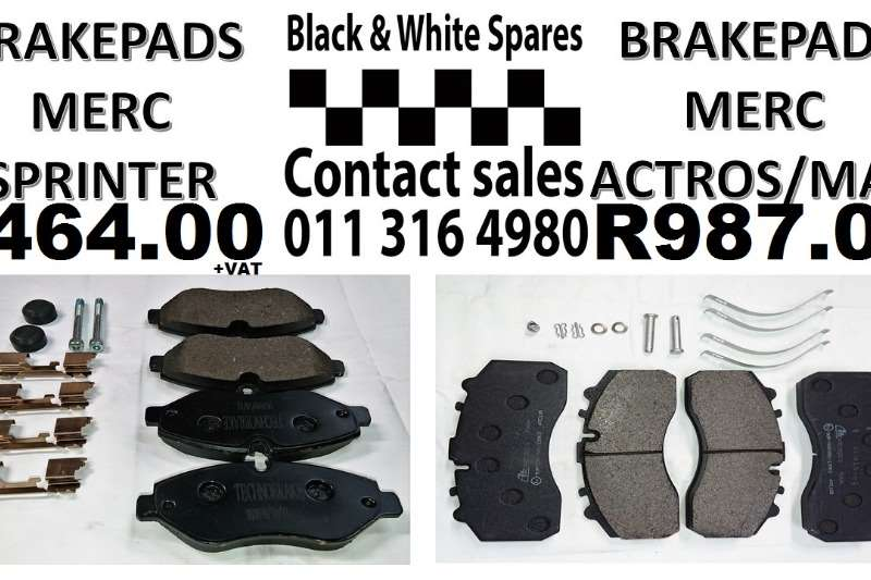 Other BRAKE PADS MERC SPRINTER ACTROS MAN Spares