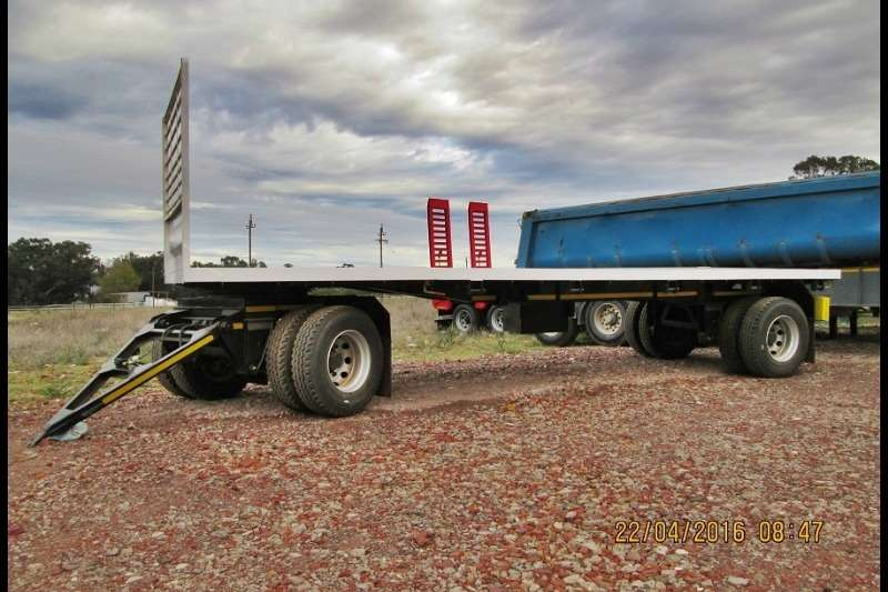 Ramkat Double axle Dual Axle Flat Deck with Draw Bar Trailers