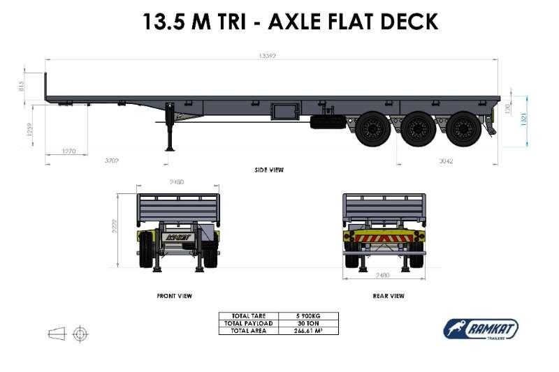 Ramkat Flat deck 3 Axle Flatdeck Trailers