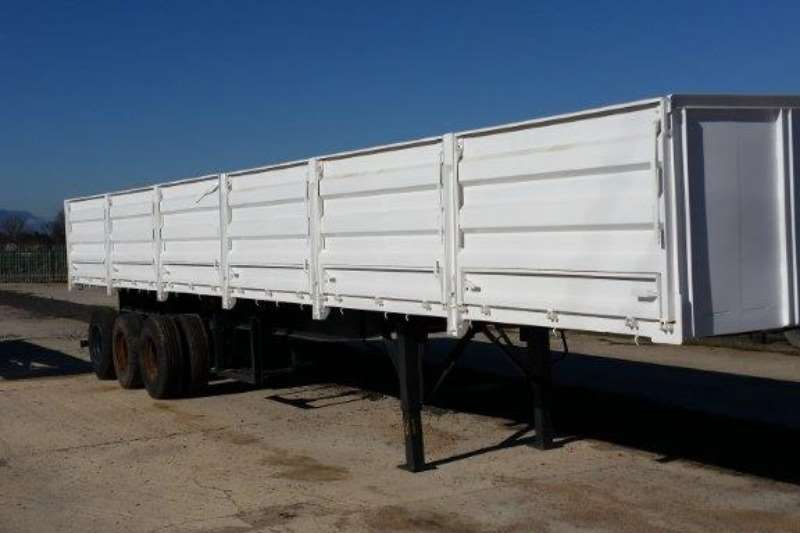 Ramkat High sides 3  Axle 14m Flat deck Trailer with drop sides Trailers