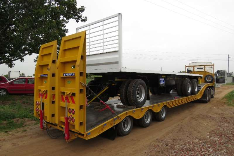 Ramkat Tri-Axle 35 Ton Lowbed Trailer with 3 Axles Trailers