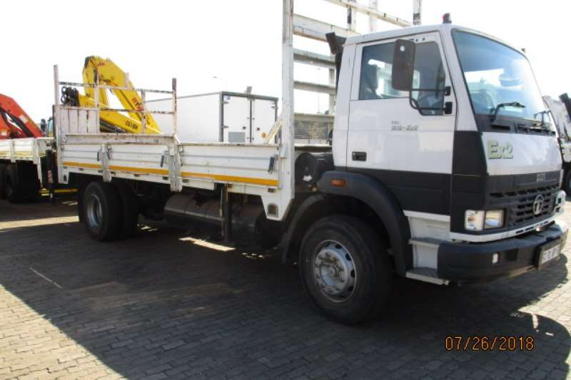 Tata Truck Crane Truck TATA 1518 DROPSIDE WITH REAR MOUNT HB150 CRANE 2016