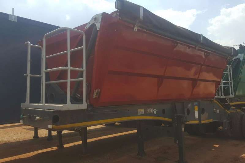 Afrit Double axle 17.5 m³ Side Tipper Front Section Trailers
