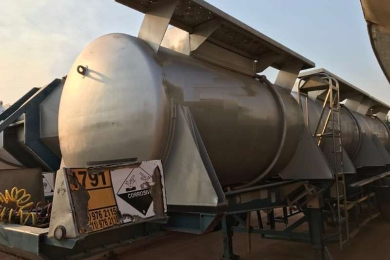 Trailers GRW Alluminium Tanker 8 500L Hydrochloric acid Pods available 0
