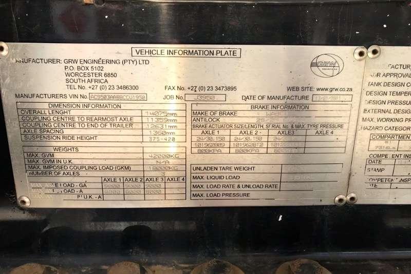 GRW Q50 TRI AXLE ALUMINIUM FUEL TANKER TRAILER Trailers