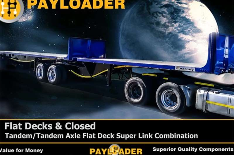 Payloader Flat deck Tandem/Tandem Axle Flat Deck Super Link Combinatio Trailers