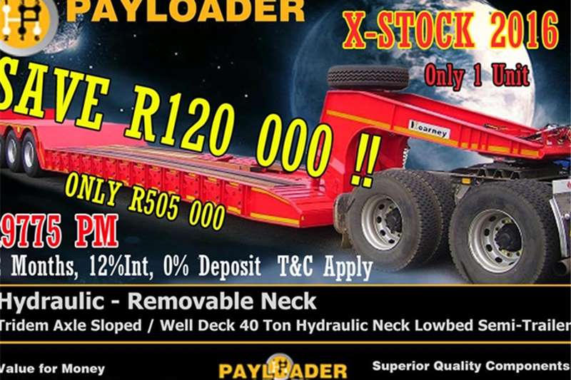 Payloader Lowbed NEW 2016 PAYLOADER 40 TON Trailers