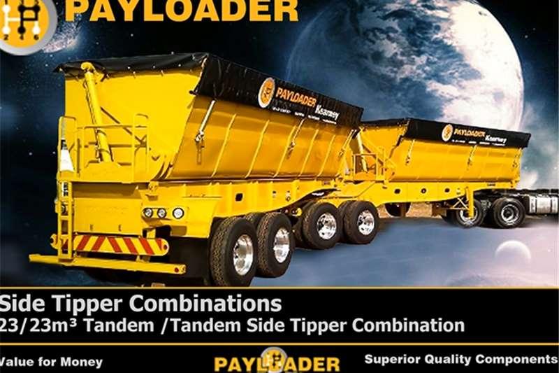 Payloader Side tipper 23/23m³ Tandem /Tandem Si Trailers