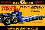 Trailers Payloader Slope Deck 40T Slopedeck Lowbed 2017