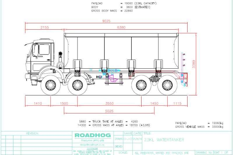 Roadhog Water tanker 16000 Litre Water Tanker Trailers