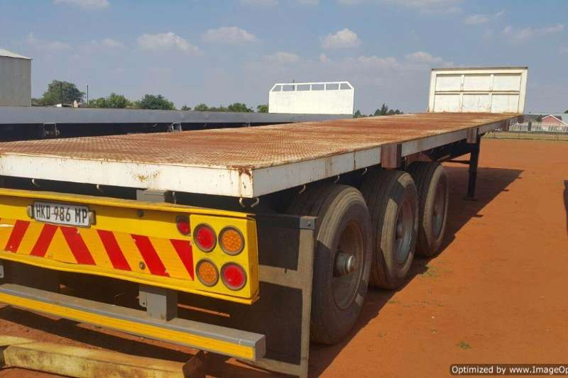 Trailers Top Trailer Double Axle Flat Deck 14 m Tri Axle 2003