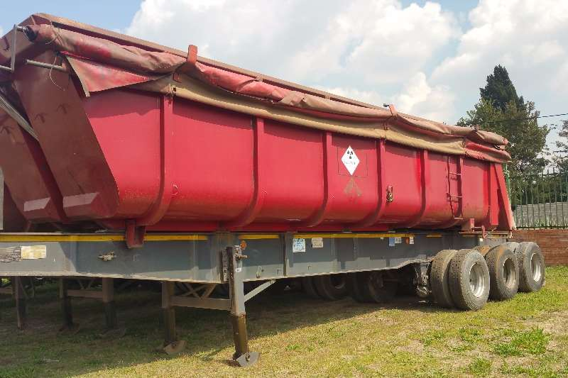 Trailers Top Trailer End Tipping Sloper end tipper sliding bin 2007