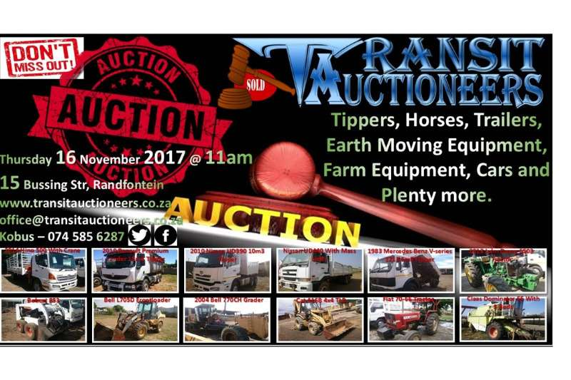 Truck Auction, Auction 16 November 2017 @ 11am 0