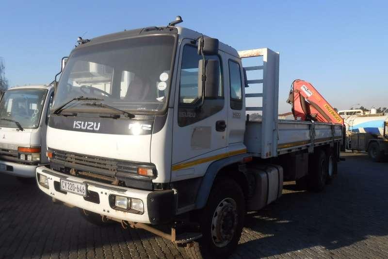 Truck Isuzu Crane Truck ISUZU FVZ 1400 DROPSIDE WITH PAL PK15500 CRANE 2005