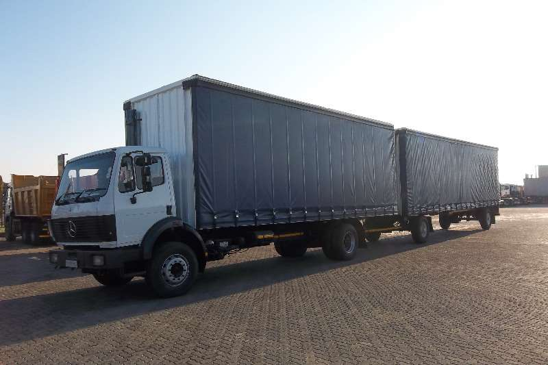 Truck Mercedes Benz Curtain Side 17.35 POWERLINER 8 TON TAUTLINER 1992