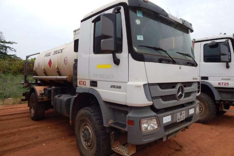 Truck Mercedes Benz Diesel Tanker Mercedes Benz Actros 2036 4x4 with Ravasini 10,750 2011
