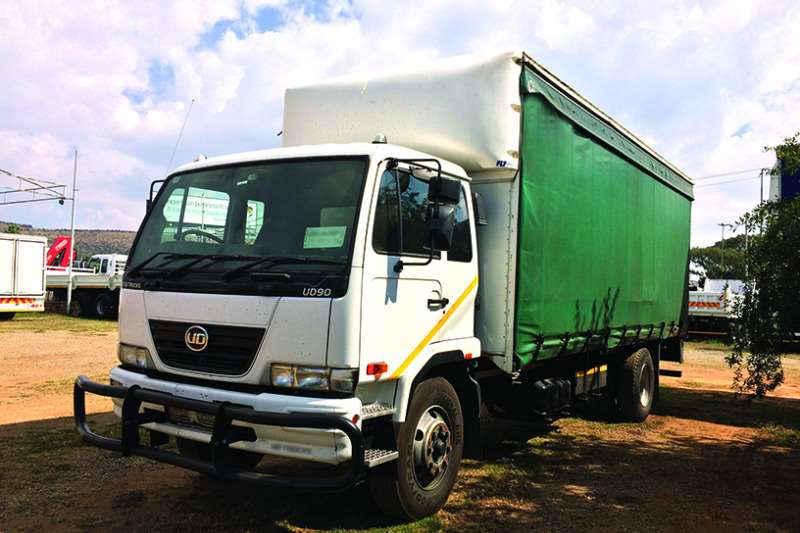 Truck Nissan Curtain Side UD90 with curtainside and dropside body 2011